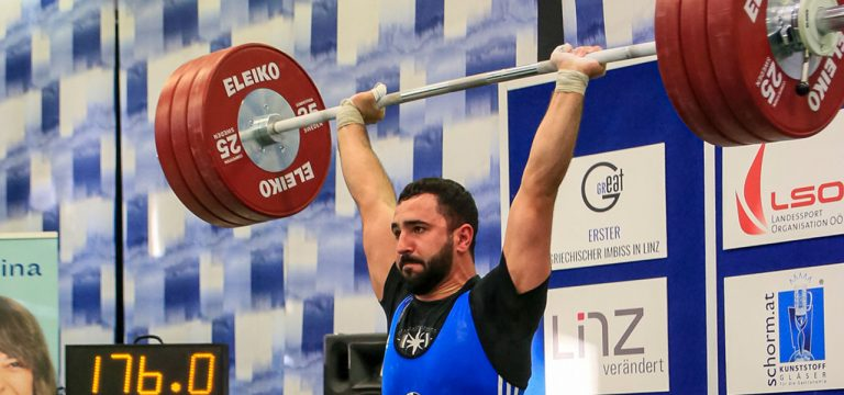 Read more about the article Amagiak Misakian mit erstmals 176 kg im Stoßen
